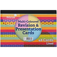 Silvine Revision Card Pad of 48 Sheets - Assorted