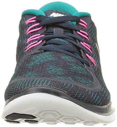 Nike Wmns Free 5.0 Print, Scarpe sportive, Donna Azul - Blau (Dark Obsidian/Summit White/Radiant Emerald)