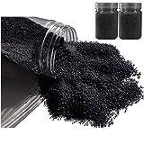 Hobi Lot de 800 GR de Gravillon décoratif coloré Noir, de 1 mm à 2 mm, pour Déco de Table, Bougeoir, Vase