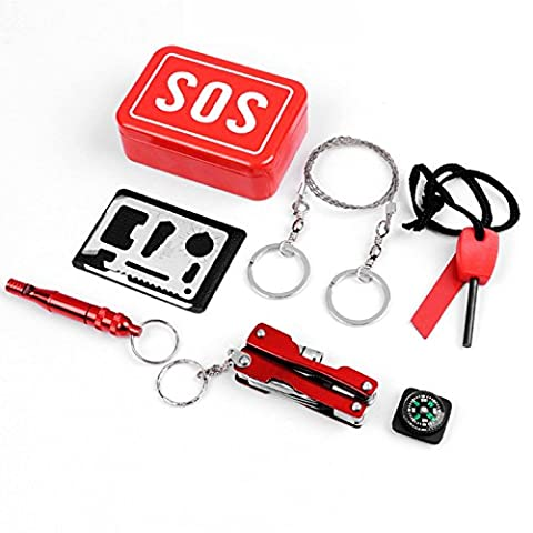 Emergency SOS Tool kit for Camping, Hiking, Hunting, Biking, Climbing, Traveling and Emergency