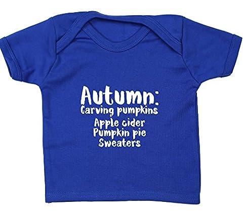 Hippowarehouse Autumn Meaning: Carving pumpkins apple cider pumpkin pie sweaters baby unisex t-shirt short