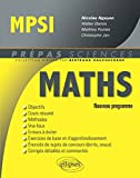 MPSI Mathématiques, nouveau programme