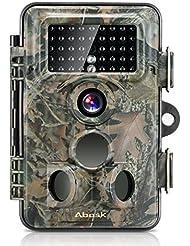 Caméra de Chasse,ABASK Caméra de Surveillance Imperméable Etanche Invisible Observation Traque IR Infrarouge Nocturne Vidéo Numérique 12MP 1080P HD Avec Accéléré 65 ft 120 ° Grand Angle De Vision Nocturne Pour Loisir & Chasse