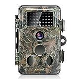 ABASK Wildkamera Digitale 12 MP 1080P HD Wasserdichte Überwachungskamera 3 Zone Infrarot-Sensor 120° Weitwinkel mit dem Zeitintervall Infrarote 20m Nachtsichtkamera Jagdkamera für Spiel & Jagd
