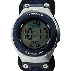 Umbro Boys Blue Digital Water Resistant EL Backlight Fabric Sports Watch U656
