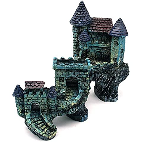 Sikete De Emulational Europea Villas Castillo del acuario decoraciones del ornamento del tanque de peces