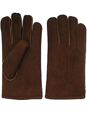 Guantes piel de cordero marrón