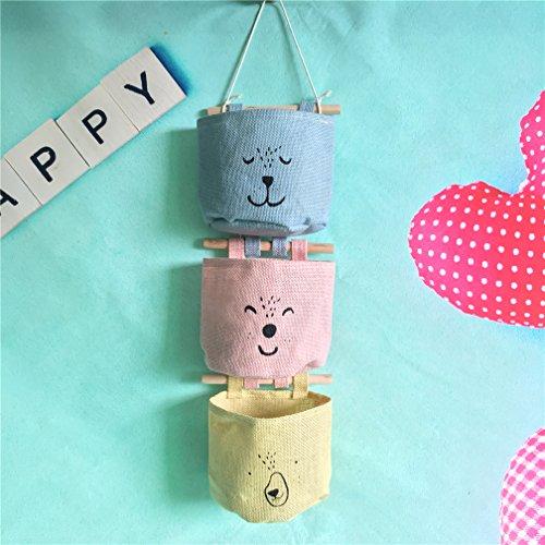 Preisvergleich Produktbild Inwagui Hängender Organizer mit 3 Taschen Hängeorganizer Hängeaufbewahrung Aufbewahrungstasche für Kinderzimmer, Schlafzimmer-Typ C