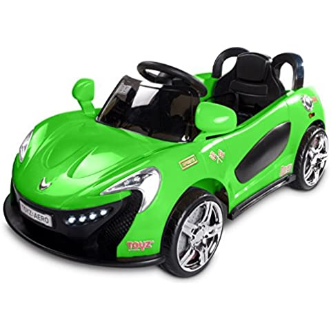 Caretero Toyz Aero Auto Coche A Bateria Auto Eléctrico Deportivo Clásico 2 Motores Conexión MP3 Luces