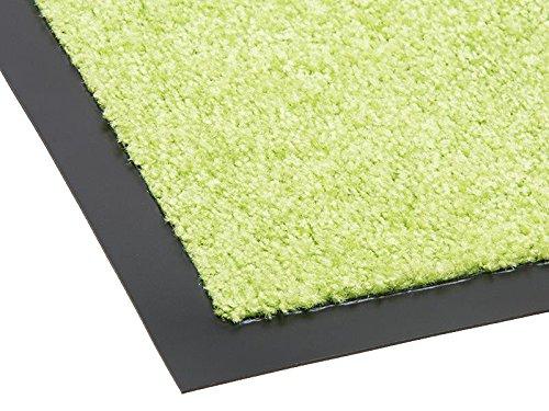 Schmutzfangmatte TWISTER - grün, 60x90cm ✓ Waschbar ✓ Rutschfest ✓ Pflegeleichte Fußmatte im Eingangsbereich | Fußabtreter Außenbereich | Fußmatte, Schmutzmatte draußen vor Haustür