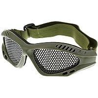 Homyl Taktische Schutzbrille Metallgitter Sport-Brille Gesichtsschutz Netz Brille - Schwarz Oi6hWWB6v