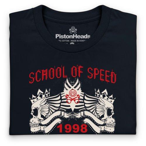 PistonHeads School of Speed Skulls T-Shirt, Herren Schwarz
