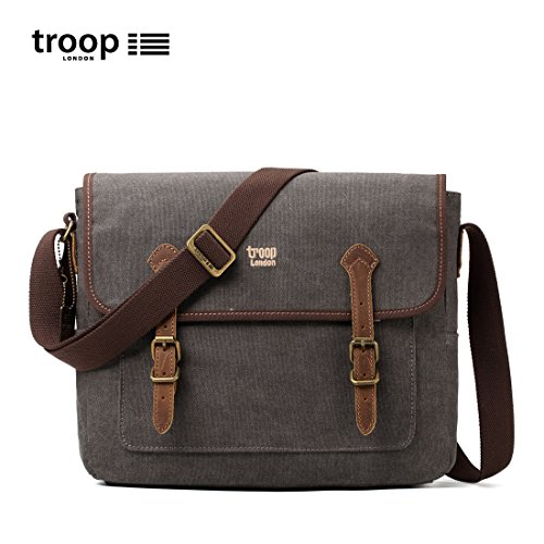 Troop London, Borsa a spalla uomo Washed Black