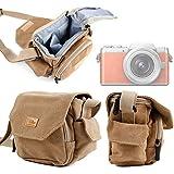 Housse avec bandoulière en toile couleur beige/sable adaptée pour appareil photo LEICA X (TYP 113) et E (Typ 102) - DURAGADGET
