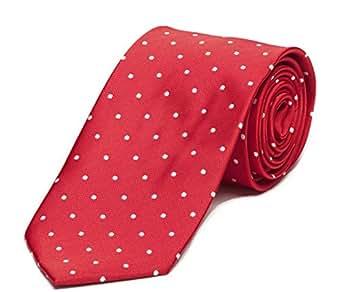 Cravate de Fabio Farini à pois en rouge blanc