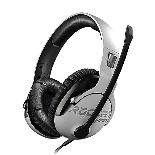 ROCCAT Khan Pro – Auriculares Gaming, Audio Hi-Res, dedicado a competiciones de Esport (Conector Jack estéreo 3,5mm, Peso Ligero 230g, para PC/Mac/PS4/Xbox One/Nintendo Switch/y móviles), Blanco