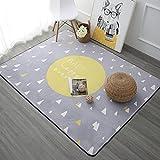 SESO UK- Nordic Modern weichen Teppich für Kinder Wohnzimmer Nachttisch - Dicke: 1cm ( Farbe : Gelb , größe : 120*180cm )