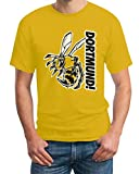 Shirtgeil Dortmund Fan Shirt mit Biene - T-Shirt Large Gelb