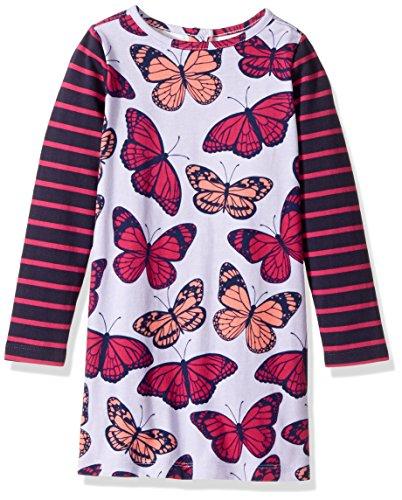 Purple Christmas Holiday Kleid (Hatley Mädchen Kleid Mod Dress, Purple (Fluttering Kaleidoscope), 5 Jahre)