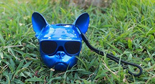 WANGZHAO Bluetooth, Französische Bulldogge, Bluetooth, Sound, Hundekopf, Bluetooth, Sound, Die Bulldogge, Lautsprecher, Schädel, Schädel und Bluetooth,Welpen - Blau -