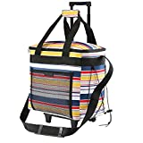 Best Rolling Coolers - Picnic Trolley Cool Bag Includes 2 Freezer Cool Review
