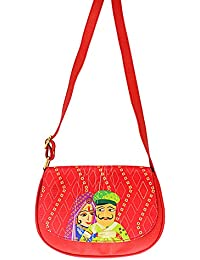 The Ringmaster Women's Designer Sling Bag - Just Married Red (Red) Small Size