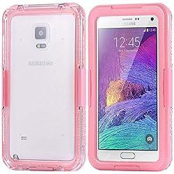 Coque de Protection étanche pour Samsung Galaxy S8 Plus S7 Edge - Transparent - pour la Natation et la plongée - Noir Samsung Galaxy S7 Edge Rose