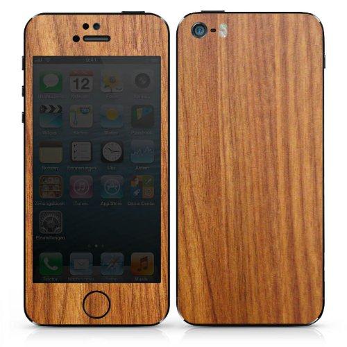 Apple iPhone 5 Case Skin Sticker aus Vinyl-Folie Aufkleber Lärchenholz Maserung Holz Look DesignSkins® glänzend