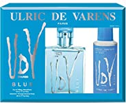 Ulric De Varens Edt, Blue, 100ml with Ulric De Varens Deo, 200ml