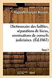 Image de Dictionnaire des faillites, séparations de biens, nominations de conseils judiciaires. T. 7