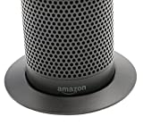 Soundbass – Premium Amazon Echo Metallständer (Schwarzer Ständer) | Diskretes High-End Sockeldesign | Außergewöhnliche Verbesserungen in der Stabilität | Farblich abgestimmte Oberfläche | Perfekter Schutz für Alexa