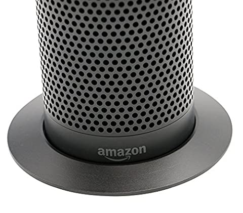 Echo Black Stand (Deluxe Base) by Soundbass | High-End Discreet Plinth Design | Exceptional Improvements In Stability | Color Matched Finish | Perfect Protection For Alexa