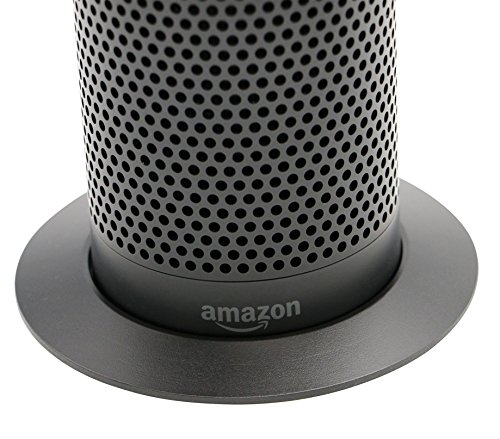 Echo Black Stand (Deluxe Base) by Soundbass | (1st Generation) | High-End Discreet Plinth Design | Exceptional Improvements In Stability | Color Matched Finish | Perfect Protection For Alexa