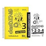 Dux Verlag Das Ding 3 mit Noten + Inhaltsverzeichnis | Kultliederbuch | Songbook