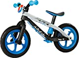 Chillafish BMXie-RS: BMX Balance Bike mit Luftlose RubberSkin Reifen, Bester Grip ohne Aufpumpen, Blau (Motion of the Ocean)