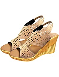 8613001fae2fc Ziaula Womens Casual Wedges Heel Sandal Available in Combo Pack and Single  Pack