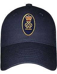 Gorra de Patrón de Embarcación de Recreo (per) + 1 Anti-Viento (Azul Marino)