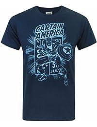 Herren-T-Shirt, kurzärmelig, Avengers / Spiderman / Hulk / Batman / Superman / Star Wars Comic-Motive im Retro-Stil, Größen S-XL