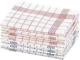 Rosenstein & Söhne Geschirrhandtücher: 12er-Set Halb-Leinen-Geschirrtücher, 70x50 cm, OEKO-TEX® Standard 100 (Halbleinen Geschirrtücher)