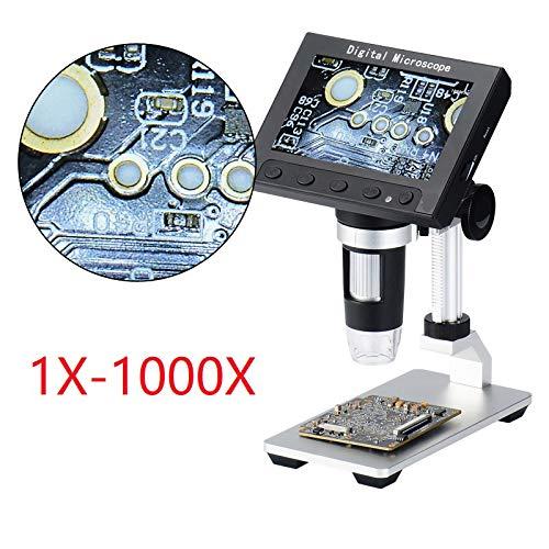 ndoskope 4.3 Zoll Farbe HD LCD Bildschirm, 1000X Vergrößerung,mit 8-LEDs,für Platine Reparatur Lötwerkzeug/mit Lithium-Batterie,Für Windows Pc,MetalBracket ()