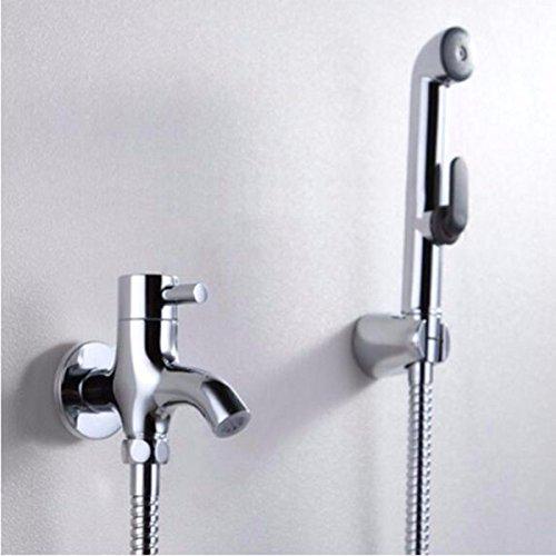 NewBorn Faucet Küche oder Badezimmer Waschbecken Mixer Das Kupfer-T-Stück WC Eckventil mit Kupfer Spray Spülen mit sauberem Body Wash ist Ein Frauen Tippen.