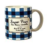 Witziger Kaffeebecher–Kaffeebecher Super Papa Parodie auf Konfitüre Gute Mama