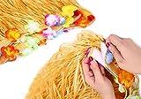 Hawaii Tischröcke, Tatuer Vintage Hawaii Deko Party Tischdecke Hawaii Luau Tischdeko Partyartikel mit Blumen für DIY Party Dekoration Geburtstage Hausgemachtes Kostüm Rock Festival(Gold) - 5