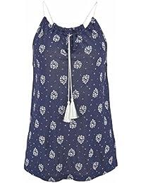 SHOBDW Camisa Sin Mangas del Chaleco de Las Mujeres de la Impresión del Verano de Las