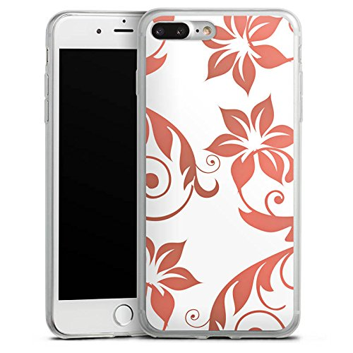 Apple iPhone 8 Plus Slim Case Silikon Hülle Schutzhülle Blumen Ranken Ornamente Silikon Slim Case transparent