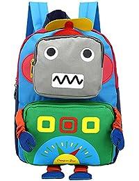 Preisvergleich für Freitop Kinderrucksack mit Cartoon Roboter Muster ab 3 Jahre Schulrucksack Kindergartenrucksack Schulranzen Kindergartentasche...