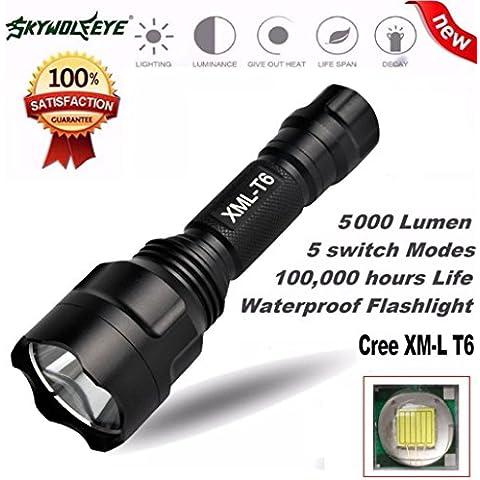 Amlaiworld 5000LM LED 18650 de la linterna 5 Modo táctico de la antorcha de luz de lámpara