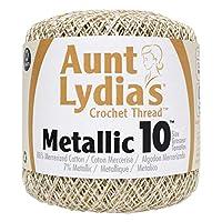 Coats Crochet Crochet Thread, Natural/Gold