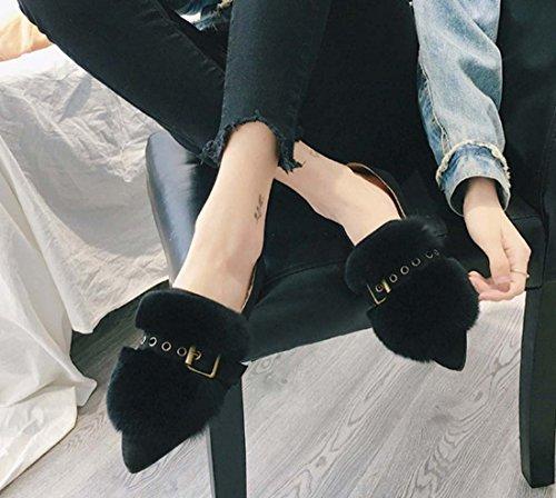 Chaussures De Coiffure Pour Femmes, Chaussures Pour Femmes, Baskets En Cuir Noires