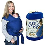 Shsom Atmungsaktive Babyschlingen, Und Leichtes Tragetuch Für Neugeborene Von Geburt Baby Wrap, Bambus-Baumwolle-Elastane, Für Neugeborene-35 Lbs,Sapphire